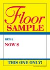 D30FLO ''Floor Sample Sale This One Only'' Unstrung Drill Sale Tags (No Strings) Small Price Cards - 3 1/2'' x 5'' (100 Pack) Furniture, Flooring, Business Store Signs