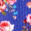 "Blueberry Pet Spring Scent Inspired Pink Rose Print Irish Blue Women Fashion Non Breakaway Lanyard Keychain for Keys/ID Card/Badge Holder, 1/2"" Wide"