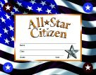 Hayes Citizen Stick-to-It Award Certificate ()