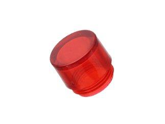 VISUAL COMMUNICATIONS 25P-606R Red Transparent Cylindrical T-2 Slide Base Lamp Lens - 1000 item(s) - T2 Slide