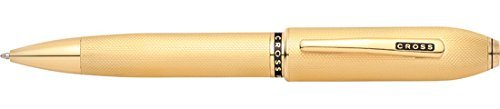 Cross Peerless 125 23KT Heavy Gold Plate Ballpoint Pen with 23KT Gold Plated Appointments by Cross ()