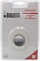 Bialetti Replacement Gaskets and Filter for 1 Cup Moka / Break / Dama / Mini Express Espresso Makers (1-CUP Size)