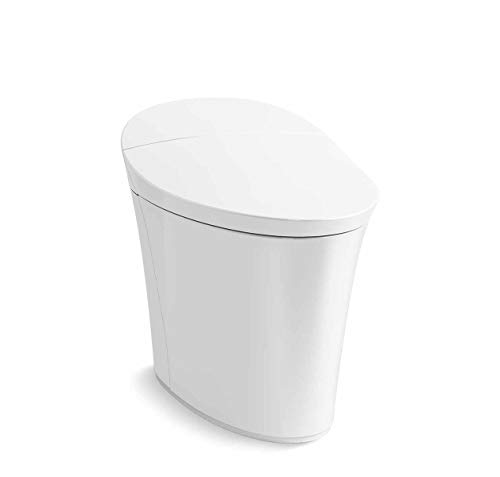 Kohler K-5401-PA-0 Veil Comfort Height Skirted One-Piece Elongated Dual-Flush Intelligent toilet, White
