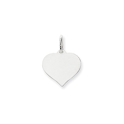 Jewels By Lux 14K White Gold Heart Disc Charm Heart Disc 14k Gold Charm