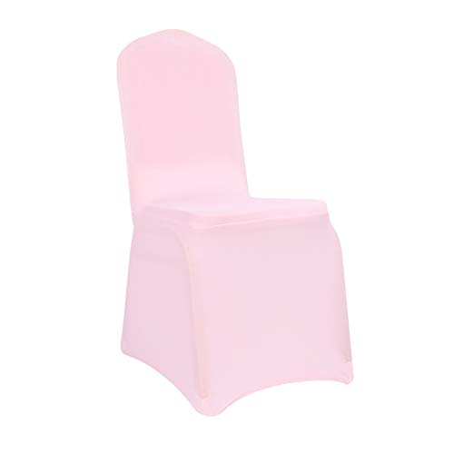 Natures Banquet Best Blend - Orgagreen Natures Spandex Dining Room Chair Covers for Living Room Banquet Wedding Party Dining Decoration Scuba Elastic Chair Cover (Light Pink, 50)