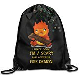 YFF Trendy Studio Ghibli Howl's Moving Castle Calcifer Travelling Bag (Space Jam Costumes)