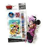 Back to School Toddler Pre-school Elementary School Supplies Pencil Pouch Ruler Eraser Bowtique Minnie Mouse (2 Piece set)