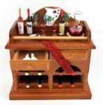 Dollhouse Miniature Decorated Wine Buffet by Reutter Porcelain by Reutter Porcelain