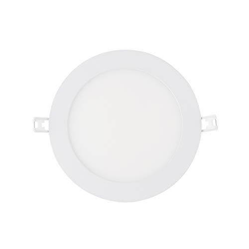 (LED Recessed Light Fixture 6 Inch Round with Driver, 3000K Soft White, 15W, 900 Lumens, 120V, Low Profile, Dimmable, Energy Star and IC Rated, White Trim, 1 Pack)