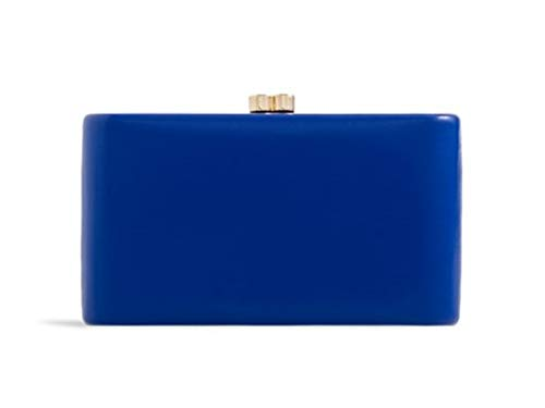 Case Evening Compact Clutch Handbags Women's Hard Faux Red Leather Bag LeahWard Aq8Eax0p