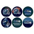 """WinCraft NFL Seattle Seahawks WCR97971612 Round Button (6 Pack), 2"""""""