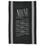 """Sur La Table Parisian Menu Jacquard Kitchen Towel A02924 , 28"""" x 18"""""""