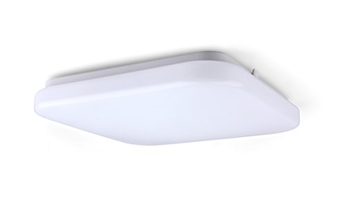 (LIT-PaTH 12 Inch Square LED Flush Mount Ceiling Lighting Fixture, 22.5W (150W Equivalent), Dimmable, 1680 Lumen, ETL and ES)