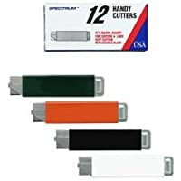 Pacific Handy Cutter : Handy Box Cutter, Tap Open/Tap Close, 12/BX, Assorted Colors -:- Sold as 2 Packs of - 12 - / - Total of 24 Each