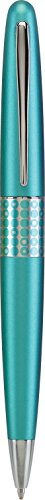 Pilot MR Retro Pop Collection Ball Point Pen, Turquoise Barrel with Dots Accent, Medium Point, Black Ink (91426) (Supplies Office Turquoise)