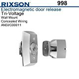 Door Mount Wall Flush Holder (Rixson 998-689 Electromagnetic Door Holder, Wall Mounted, Aluminum Finish)