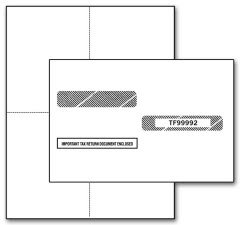 IRS Approved Laser Printer W-2 4-up Blank - without Back Instructions - with Envelopes - Set of 50 by EGPChecks
