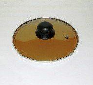 Lid 32cm//12.6 diameter Guaranteed quality Brown colour Light see through glass clear vision