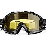 BATFOX Motorcycle Goggles Dirt Bike ATV Motocross Safety ATV Tactical Riding Motorbike Glasses Goggles for Men Women Youth Fit Over Glasses UV400 Protection Shatterproof (Black&yellow)