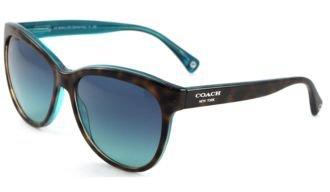 f7e7afc9a6b5 Coach Sunglasses - L051 Samantha / Frame: Dark Tortoise/Teal Lens ...