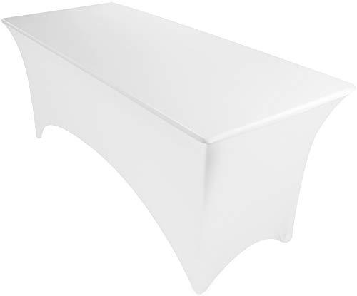 (Utopia Kitchen Stretchable 6 Feet White Tablecloth)