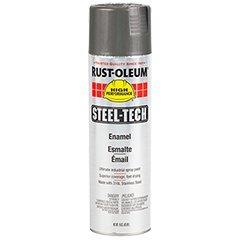 Steel-Tech Spray Paint, 15 oz Can, Metallic Gray