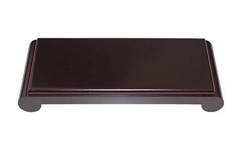 Oriental Furniture Luxury Dark Composite Wood Stand Holder Wooden Display Stands Rectangle Rectangular Shape Pedestal Shujuan Ji (M 22cm(top) 9cm(top) 4cm) ()