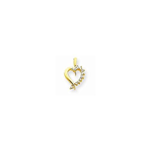 14k AA Diamond heart pendant (14k Aa Diamond Heart Pendant)