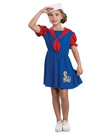[Sailor Girl Dress Up Costume] (Cute Inexpensive Halloween Costumes For Kids)