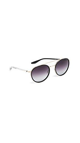 Barton Perreira Women's Justice Sunglasses, Black/Smolder, One - Sunglasses Barton Perreira