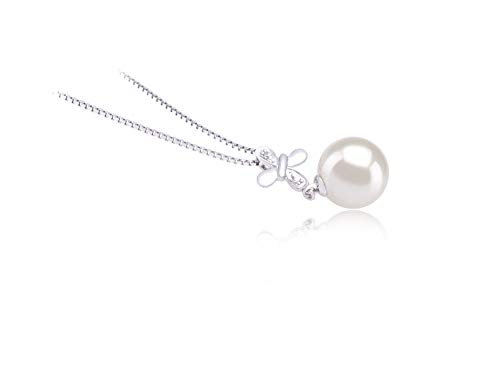 Taylor White 9-10mm AAAA Quality Freshwater 925 Sterling Silver Cultured Pearl Pendant For Women by PearlsOnly (Image #2)