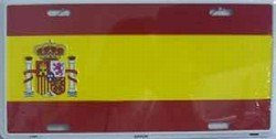 Spain Flag Aluminum Automotive Novelty License Plate Tag Sign
