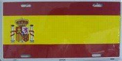 Spain Flag Aluminum Automotive Novelty License Plate Tag Sign