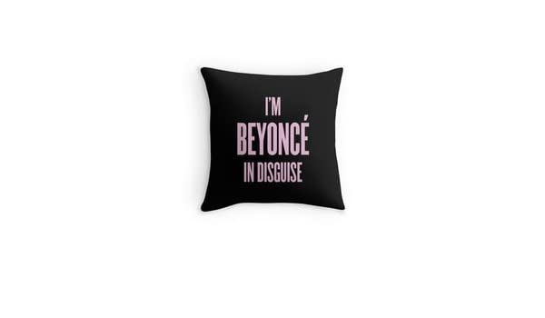 HFC caso decorativo algodón I m en disfraz de Beyonce patrón ...