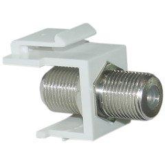 PcConnectTM F-Pin (Coax) Connector Keystone Module, ()