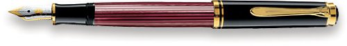 Pelikan Souveran 400 Red/Black GT Fine Point Fountain Pen - 904771