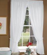 Amazoncom Classic Ball Fringe PermaPress Rod Pocket Curtains - Classic ball fringe curtains
