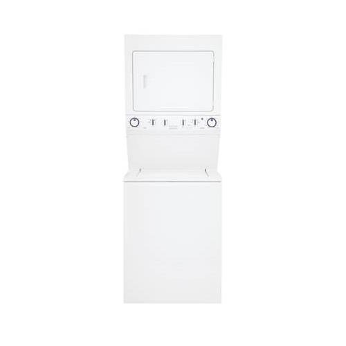 Frigidaire 3.8 Cu. Ft. 9-Cycle Washer and 5.5 Cu. Ft. 9-Cycle Dryer Gas Laundry Center Classic White FFLG4033QW