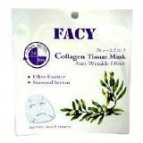 New Facy Collagen Tissue Mask Anti-wrinkle Effect Olive Essence and Seaweed Serum
