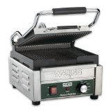 Waring Commercial WPG150T Grooved Panini Grill with Timer, 120-volt