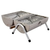 Grants Stainless Steel Barrel Portable Charcoal BBQ Barbecue: Amazon.co.uk:  Garden U0026 Outdoors