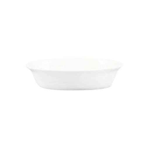 CAC China BKW-9 9-Ounce Porcelain Oval Baking Dish, 6-3/4 by 5-7/8 by 1-1/2-Inch, Bone White, Box of 36 by CAC China