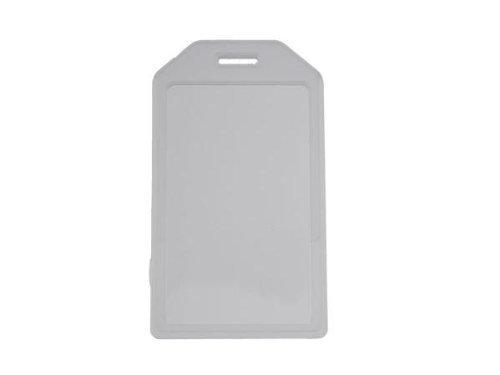 Rigid Luggage Tag (Brady People 1840-6200 CLEAR, RIGID LUGGAGE TAG CARD HOLDER W/)