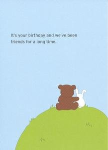 friend birthday greeting card friends for a long time
