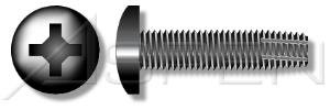 (24000PC) 1/4'-20 X 3/4', Thread-Cutting Screws , Type 'F' , Pan Phillips Drive , Full Thread , Steel, Black Oxide Ships FREE in USA by Aspen Fasteners