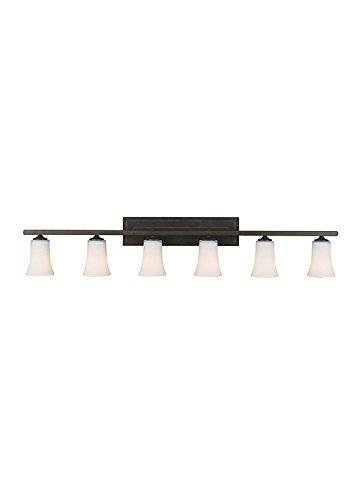 Feiss VS8706-ORB Boulevard 6-Light Vanity Fixture, Oil Rubbed (Bronze Spring Lighting)