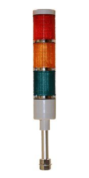 American LED-gible LD-5223-100 LED Tower Light , LED andon light , LED stacklight, 24VDC, Red/Yellow/Green, Steady by LEDAndon