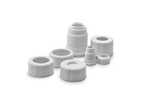 - Ateco 407 Universal Pastry Coupler and Cap Set | 7 Piece Set | Works with 250 Ateco decorating Tubes plus tips from other brands