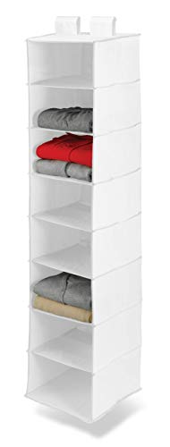 Honey-Can-Do SFT-01239 8 shelf hanging organizer, polyester, wh White - bedroomdesign.us