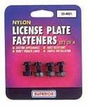 Superior 25-4001 Nylon License Plate (Nylon License Plate Fasteners)